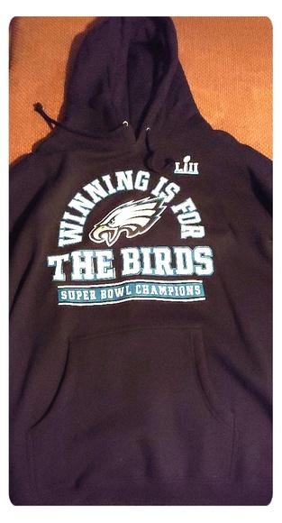 new arrival a9d05 1b232 Philadelphia Eagles hoodie Super Bowl champion NWT